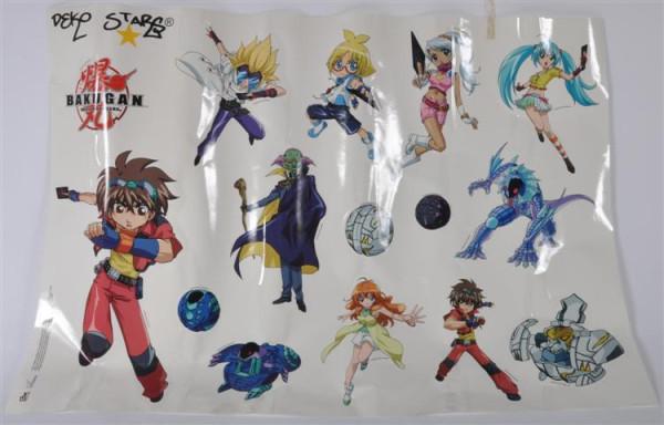 """Sticker """"Bakugan"""" ca. 98x69 cm"""