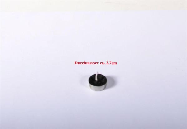 Teelicht schwarz ca. 2,7cm D