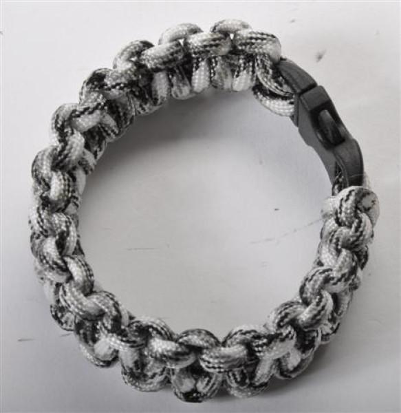 Paracord Armband sort. DIS.,