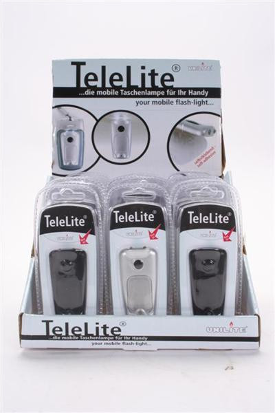 Telelite Blister m. LED 2.Wahl: schwergängig! DIS, ca. 12x5,5cm