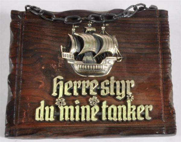 Holzbild m. Motiv u. Spruch ca. 16x13 cm