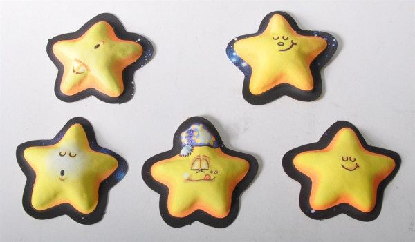 "Sticker 3D ""Crazy Stars"" Glow in the dark AK ca. 22x16cm"