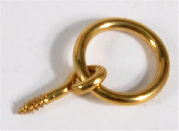 Haken m. Ring messingfabrig Durchm. Ring 1,5 cm