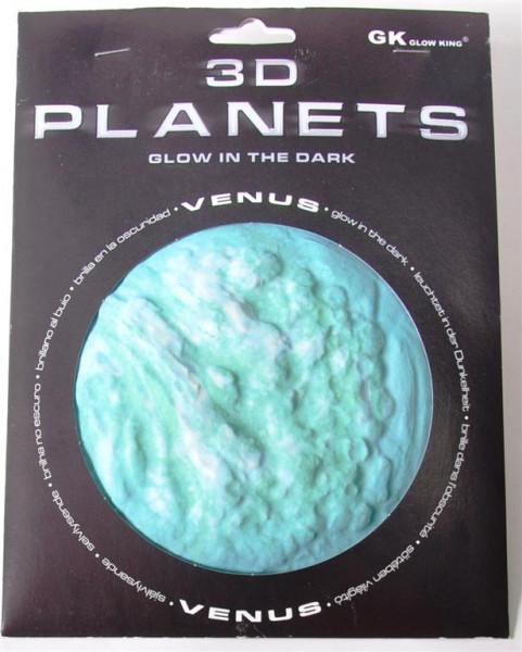 3D Bild Planet Venus, glow in the dark AK, ca.12cm