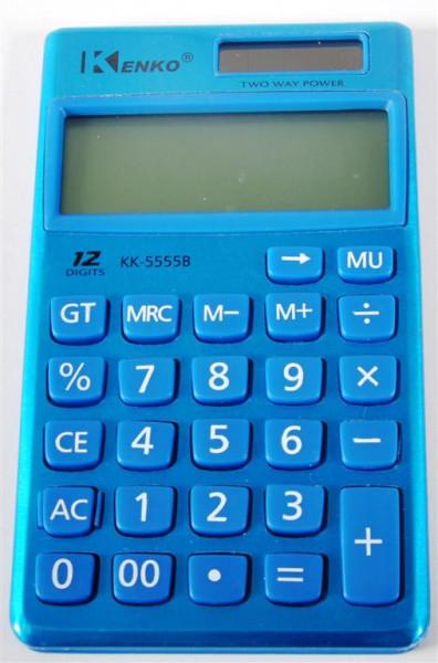 Taschenrechner farbl. sort. ca. 11,5x7 cm