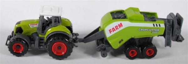 Traktor mit Anhänger sort. DIS. ca.23 cm