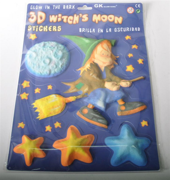 3D Bild Witch`s Moon, glow in the d. AK, ca. 33,5x24 cm