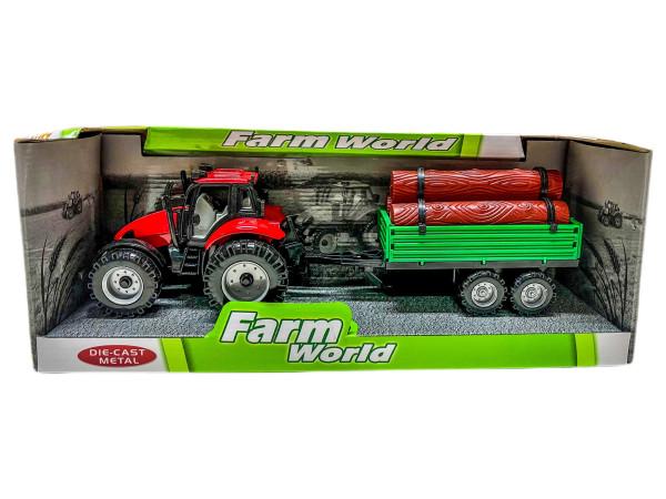 Traktor mit Holzanhänger WB ca.