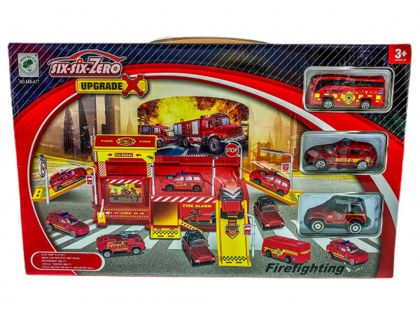 Feuerwehr Parkhaus Set WB, ca. 39x28x6cm