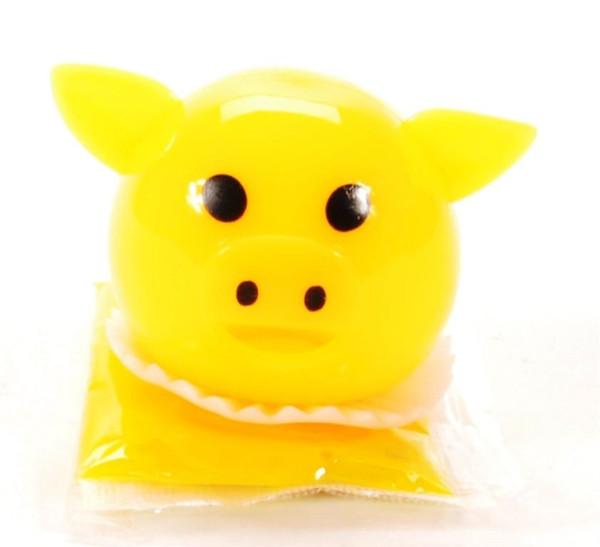 Slime spuckendes Schwein farbl. sort. DIS ca. 4x6cm