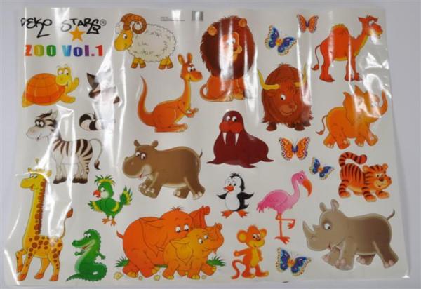 "Sticker ""Zoo Animals"" ca. 98x69 cm"