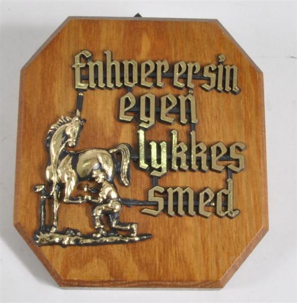 Holzbild m. Motiv u. Spruch ca. 13x11,5 cm