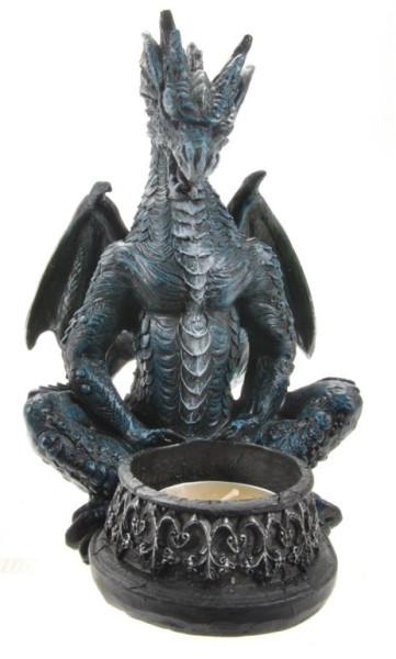 Drache Teelichthalter BB ca. 11x7,5x15,5cm