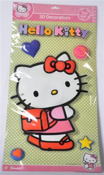 Hello Kitty 3D Glow in the Dark 2fach s. PB ca. 57x29 cm