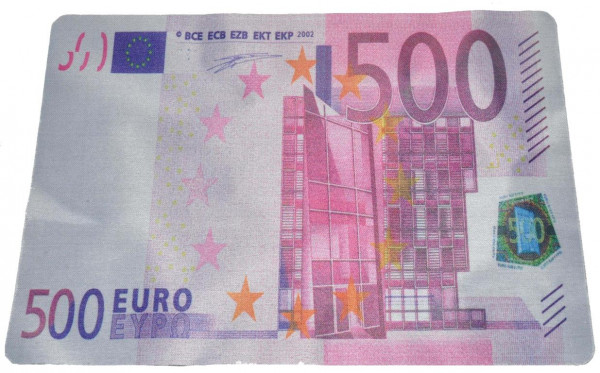"Maus Pad ""100+500 Euro"" sort. OPP, ca.28x20 cm"