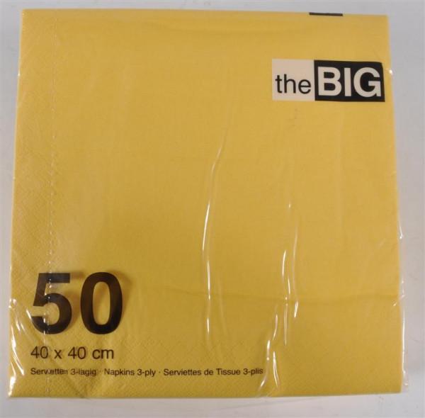Servietten gelb 40x40 cm 50 Stück/Pack