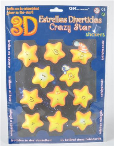 "Sticker 3D ""Glow in the dark"" sort."