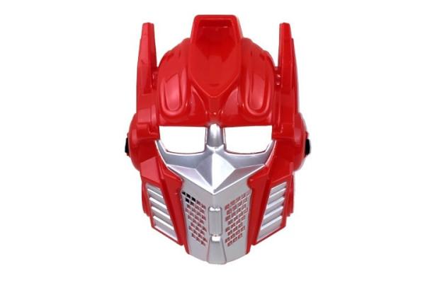 Maske Roborter rot OPP, ca. 24x17x5 cm