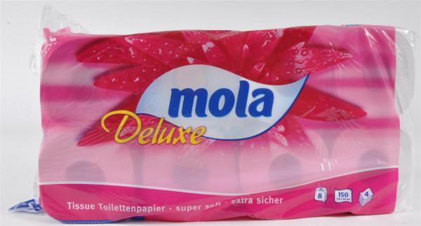"""Toilettenpapier """"Mola Deluxe"""" 8 Rollen a 150 Blatt 4 lagig"""