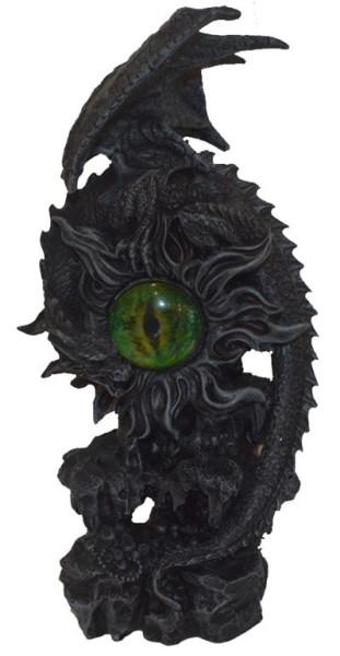 Drache auf Auge 2fach sort. BB ca. 13,5x10x27cm