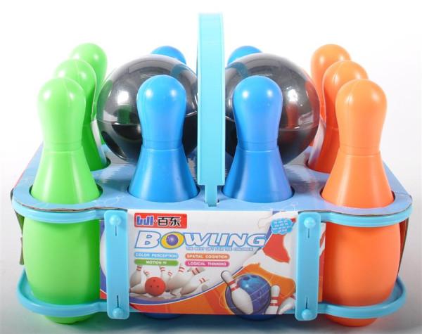 Bowling Set, 10 Kegeln+2 Bälle Kegel ca. 15 cm