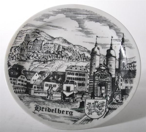"Wandteller ""Heidelberg"" ca. 19cm D"
