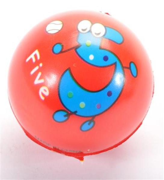 "Ball ""Große Zahlen"" farbl. sort. OPP, ca. 6,3 cm Durchm."