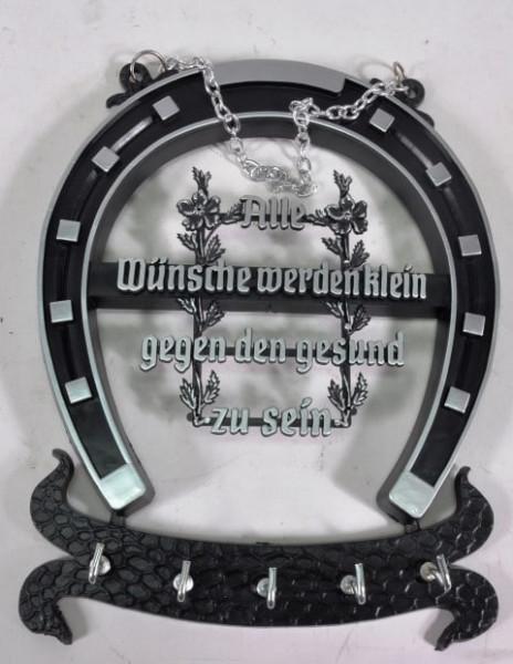 Schlüsselbrett Hufeisen m. Spruch ca. 22c16,5cm