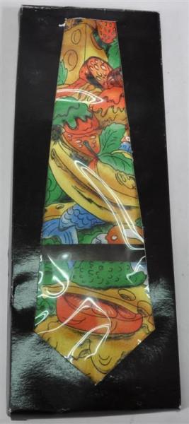 Krawatte bunt mit Früchtedesign GK