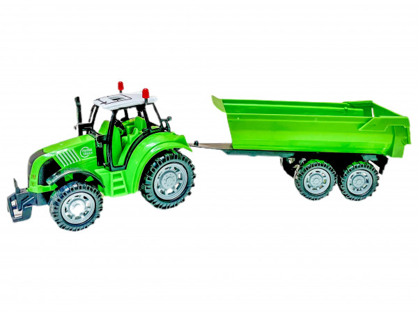 Traktor mit Anhänger farbl. sort. WB ca. 33x6,5x9cm