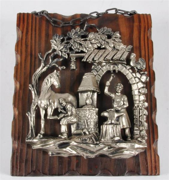 Holzbild mit versch. Motiven ca. 19,5x17,5 cm