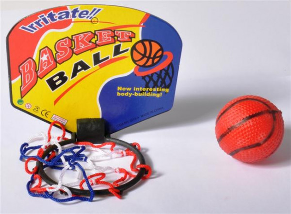 Basketball m. Fangkorb sort. OPP, ca.13,5x11,5x5,5 cm
