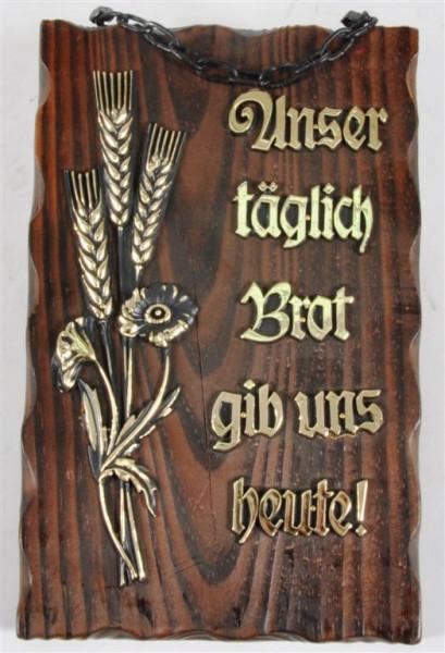 Holzbild m. Motiv und Spruch ca. 24x15cm