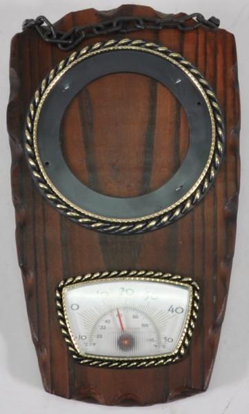 Holzbild mit Thermometer ca. 21x12,5cm