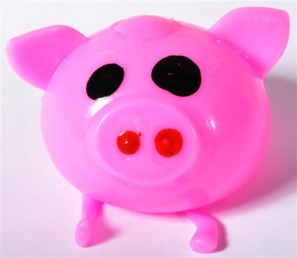 Wasser Schwein farbl. sort. OPP u.DIS. D: ca.5 cm