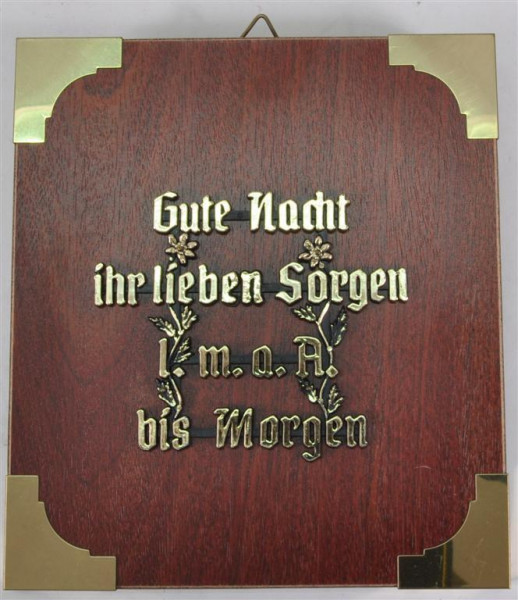 """Holzbild """"Gute Nacht ihr lieben..."""" ca.19x17 cm"""