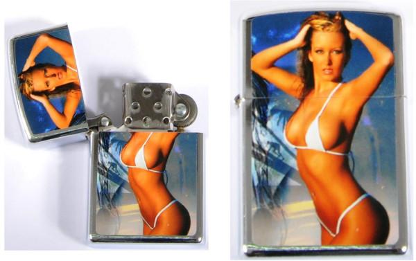 Benzinfeuerzeug Frauen sort. AK, Feuerzeug ca.5,5x3,5x1,2 cm