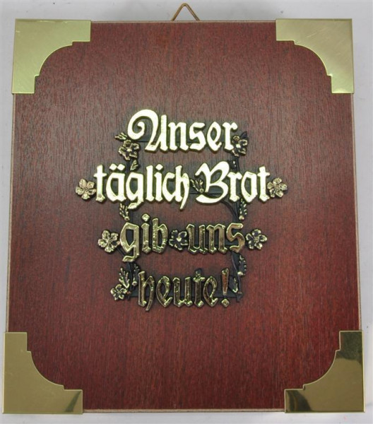 "Holzbild ""Unser täglich Brot..."" ca. 19x17 cm"