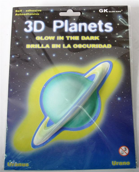 3D Bild Pl. Uranus, glow in the dark AK, D: ca. 12 cm