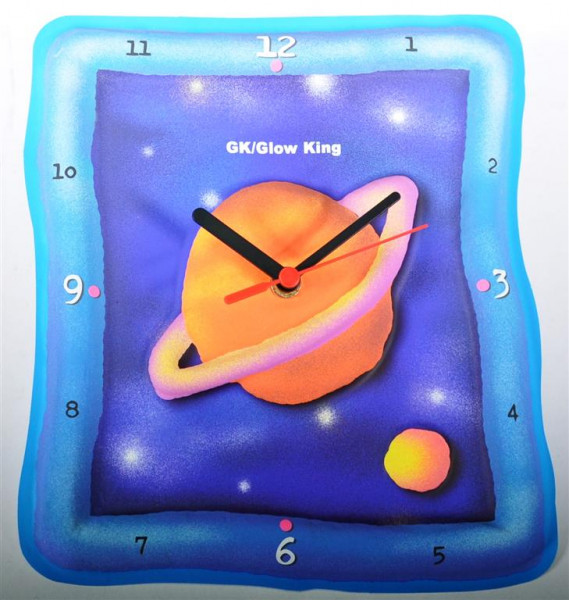 "Glow King Uhr ""Saturn"" GK ca. 20,5x22,5cm"