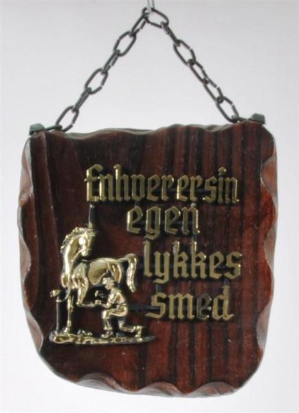 Holzbild mit dänischem Spruch ca. 13,5x12cm