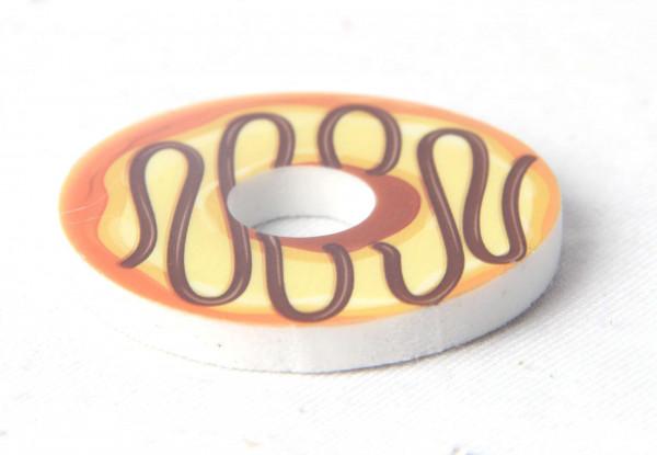 Radiergummi Donut sort. DIS, ca.4,5x0,5 cm