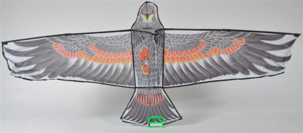 "Drachen ""Adler"" m.Schnur farbl.sort. OPP, ca. 130x60 cm"