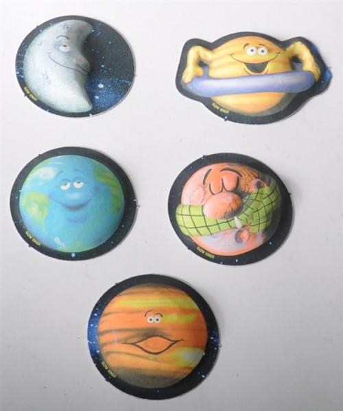"Sticker 3D ""Funny Planets"" glow i.t. dark AK ca. 22x16cm"