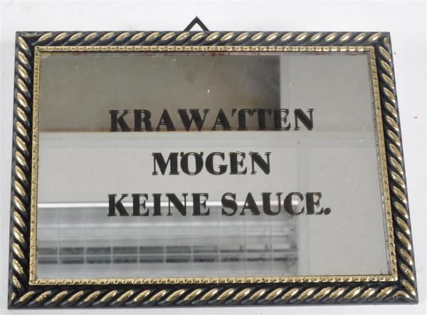 """Bild mit Spiegel """"Krawatten mögen..."""" ca. 16,5x12 cm"""