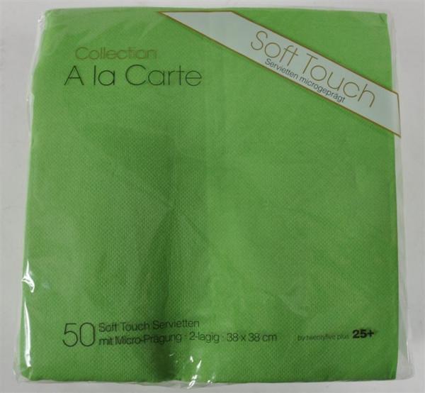 Servietten hellgrün 38x38 cm 50 Stück/Pack
