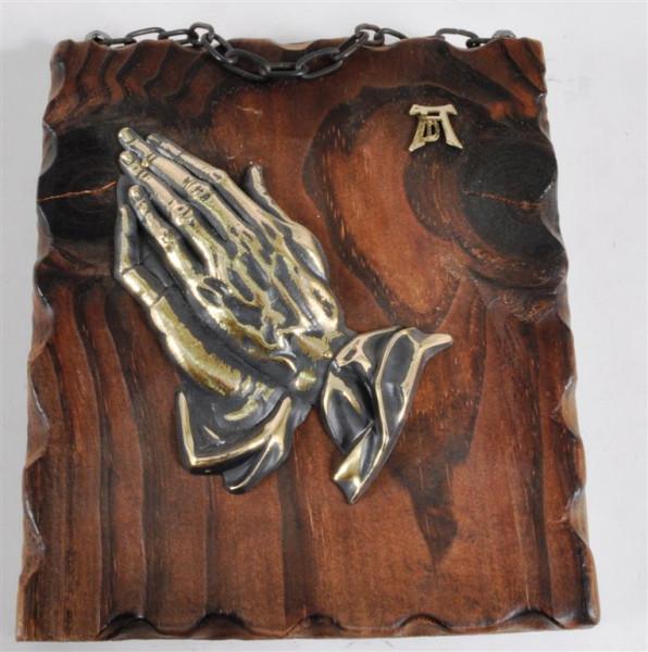 Holzbild m. Motiv ca. 20x17 cm