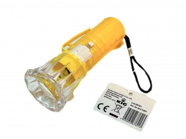 Taschenlampe m.LED weiß, 4-fach sort DIS, ca. 9,5x3,5 cm